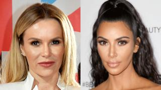 Amanda Holden (left) and Kim Kardashian