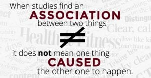 association is not the same as causation