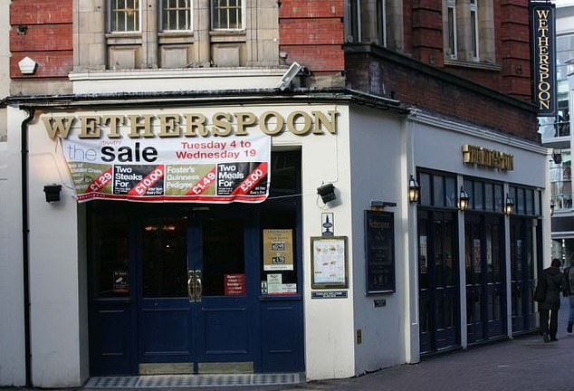 Ice and soda water contaminated with faeces have been detected at Wetherspoon branches