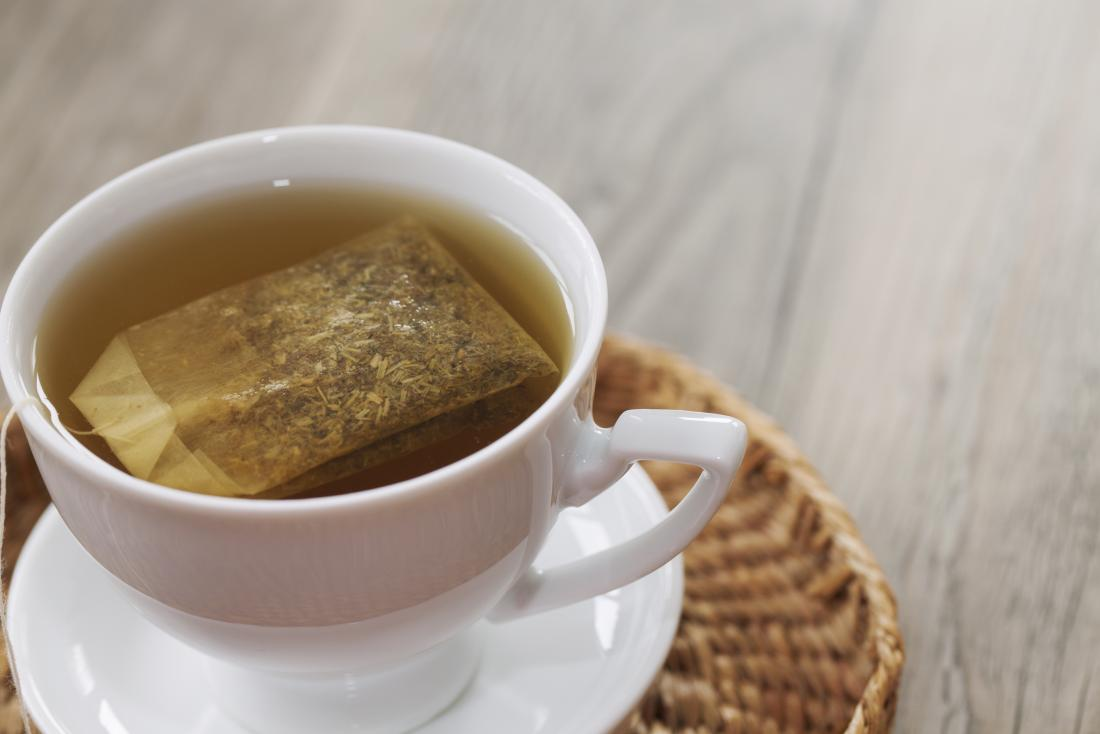 Cup of herbal chamomile tea