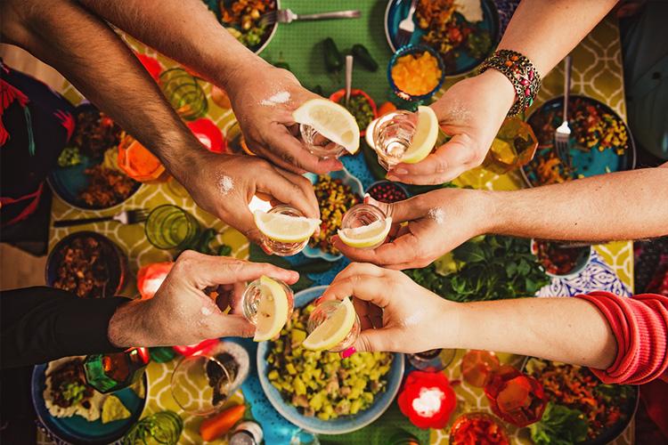 tequila, shots, alcohol, spirits, inflammatory foods