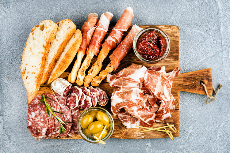 meat, antipasto platter, cold meats, inflammatory food