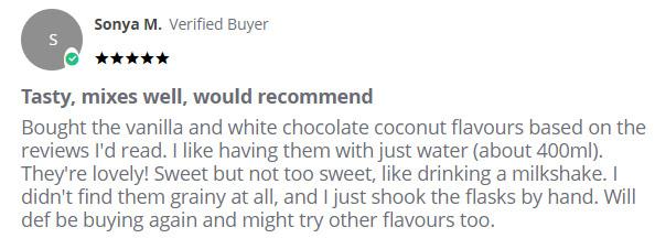 Bulk Powders Vegan Protein customer review
