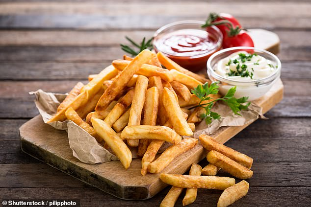 Fried food, like chips, really does increase our risk of coronary artery disease (stock)