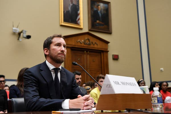 James Monsees, a Juul co-founder and chief product officer, testifying before a House subcommittee last month.