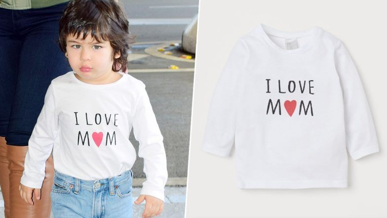 Taimur Ali Khan's 'I Love Mom' T-Shirt Is Worth Less Than 400 Rupees And It's Time To Revamp Your Child's Closet (View Pics)