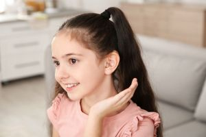 Colorful kids hearing aid